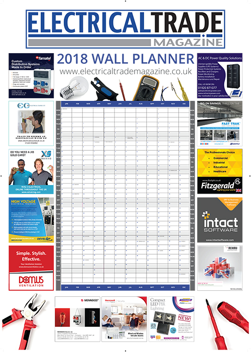 Electrical Trade Magazine Wallplanner 2018