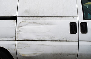 Damaged van from Leasevan