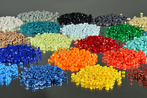 Multi coloured Plastic components that are made by Essentra Components