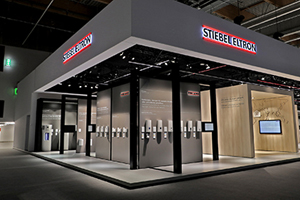 The Stiebel Eltron stand at ISH 2019 showcasing the new products