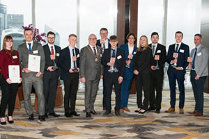 EDA Learning Achievement Award winners at the Shard