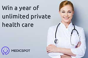 Win a year of unlimited private healthcare - worth £150! With MedicSpot