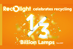 Recolight celebrates recycling third of a billion lamps