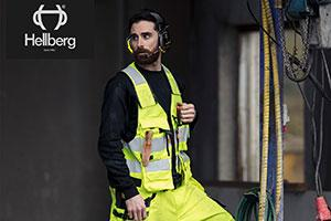 A man dressed in Hellberg Safety PPE clothing