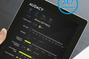 AUDACY® advanced wireless lighting  control system