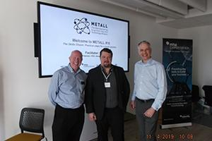 METALL staff Chris Coopey, Richard Freeman & John Docherty