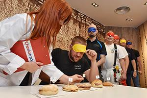 The Checkatrade team reviewing the new McDonald's bacon roll
