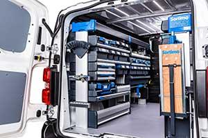 The SR5 van racking can be configured quickly, individually and at any time in just a few steps