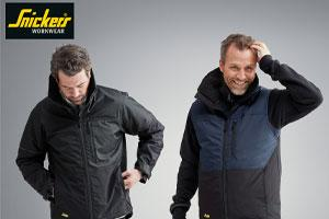 The new Snickers Workwear New ALLroundWork Jackets and Gilets