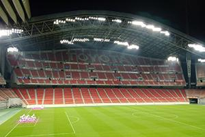 Toyota Stadium in Aichi with its new LED pitch lighting
