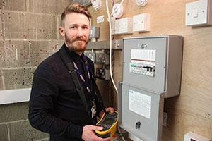 Electrician training at the Colchester Institute