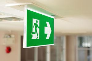 Fire exit sign - Businesses Playing With Fire As They Continue To Break Safety Laws