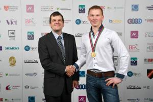 Jon Dicken with Stuart Graham last years winner, industry skills competition