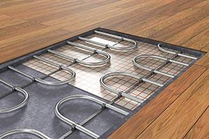 Underfloor heating under laminate
